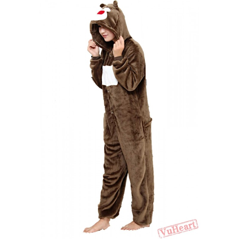 1a3f74bf935a Women   Men Cute Bear Kigurumi Onesies Pajamas Costumes