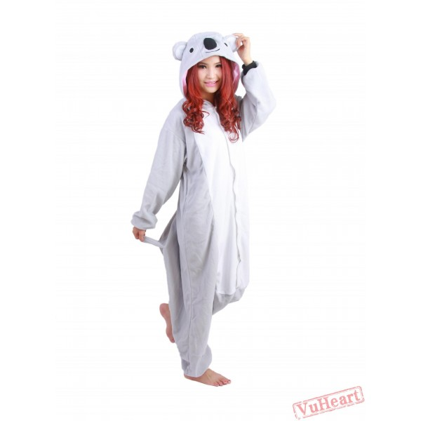 Grey Koala Kigurumi Onesies Pajamas Costumes for Women & Men