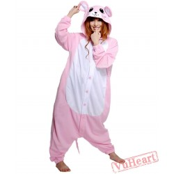 Pink Mouse Kigurumi Onesies Pajamas Costumes for Women & Men