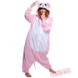 Pink Mouse Kigurumi Onesies Pajamas Costumes for Women & Men