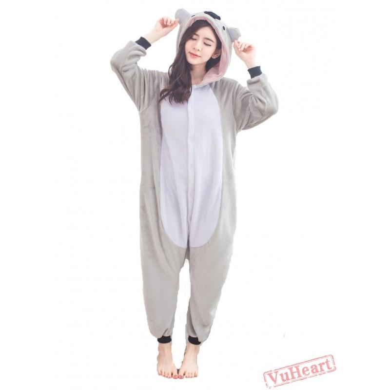 c2018b6ddbec Cute Koala Kigurumi Onesies Pajamas Costumes for Women   Men