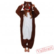 Brown Wolf Kigurumi Onesies Pajamas Costumes for Women & Men