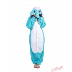 Blue Elephant Kigurumi Onesies Pajamas Costumes for Women & Men