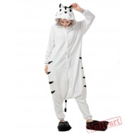 White Tiger Kigurumi Onesies Pajamas Costumes for Women & Men