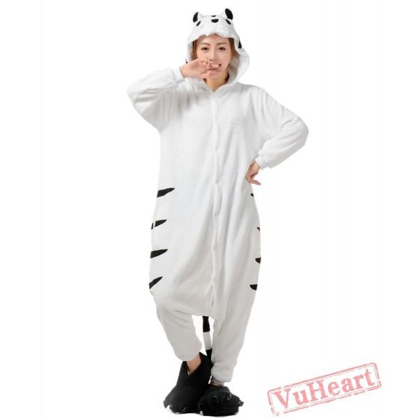 White Tiger Kigurumi Onesies Pajamas Costumes for Women & Men
