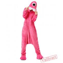 Purple Bucktooth Monster Kigurumi Onesies Pajamas Costumes for Women & Men