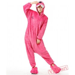 Purple Bucktooth Monster Kigurumi Onesies Pajamas Costumes for Women & Men