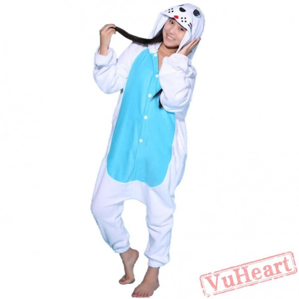 White Seal Kigurumi Onesies Pajamas Costumes for Women & Men