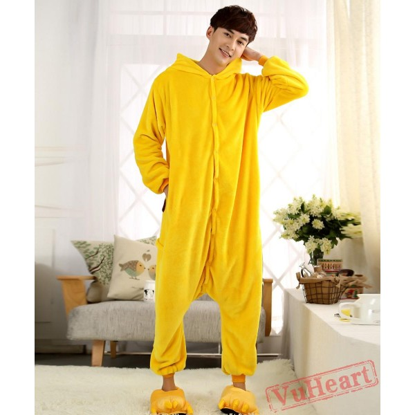 Cartoon Pikachu Couple Onesies / Pajamas / Costumes