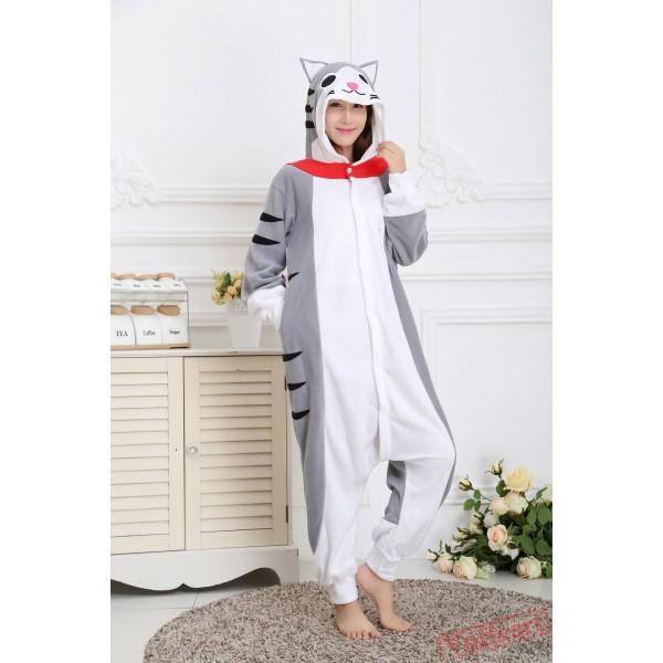 Cheese Cat Kigurumi Onesies Pajamas Costumes for Women & Men