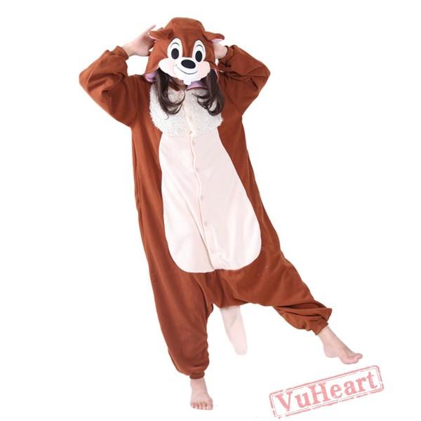Coffee Squirrel Dale Kigurumi Onesies Pajamas Costumes for Women & Men