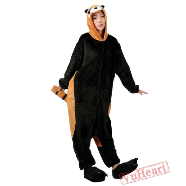 Little Red P&araccoons Kigurumi Onesies Pajamas Costumes for Women & Men