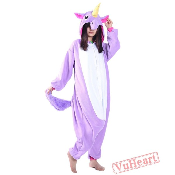Purple Unicorn Kigurumi Onesies Pajamas Costumes for Women & Men