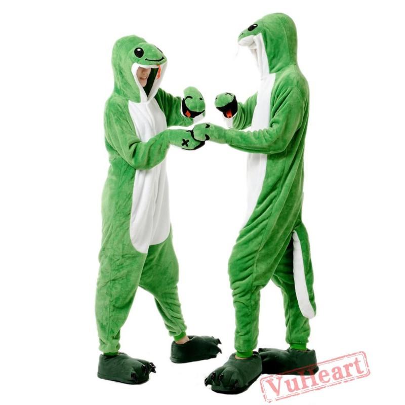 ae52dff52113 Green Snake Kigurumi Onesies Pajamas Costumes for Women   Men