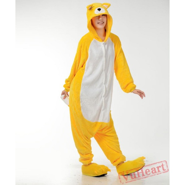 Yellow Fox Kigurumi Onesies Pajamas Costumes for Women & Men