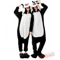Black Wolf Couple Onesies / Pajamas / Costumes