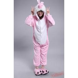 Rabbit Bunny Kigurumi Onesies Pajamas Costumes for Women & Men