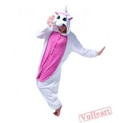 White Purple Unicorn Kigurumi Onesies Pajamas Costumes for Women & Men