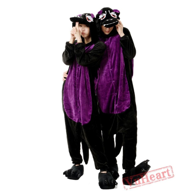 69c0edd34f2a Women   Men Black Dragon Wolf Kigurumi Onesies Pajamas Costumes