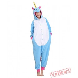 Blue Unicorn Kigurumi Onesies Pajamas Costumes for Women & Men