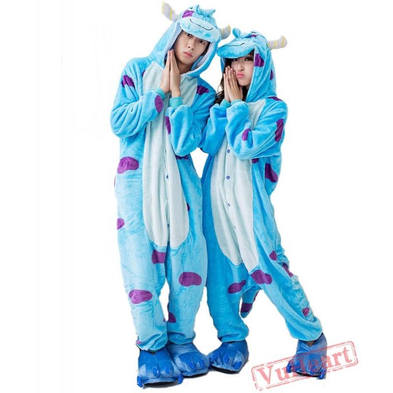 Sullivan Monster Kigurumi Onesies Pajamas Costumes for Women   Men 70011d055a1f