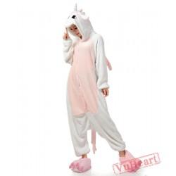 Pink White Unicorn Kigurumi Onesies Pajamas Costumes for Women & Men