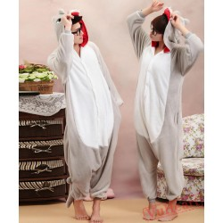 Grey Dinosaur Monster Kigurumi Onesies Pajamas Costumes for Women & Men