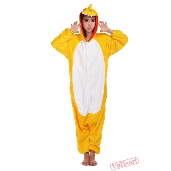 Yellow Dinosaur Kigurumi Onesies Pajamas Costumes for Women & Men