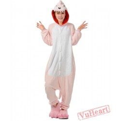 Pink Dinosaur Kigurumi Onesies Pajamas Costumes for Women & Men