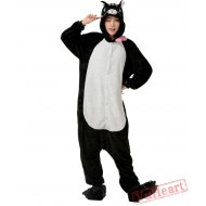 Black Cat Kigurumi Onesies Pajamas Costumes for Women & Men