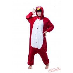 Red Angry Bird Kigurumi Onesies Pajamas Costumes for Women & Men