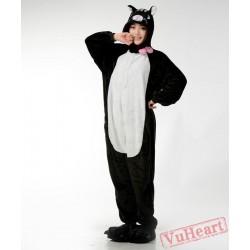 Black Cat Kigurumi Onesies Pajamas Costumes for Women & Men