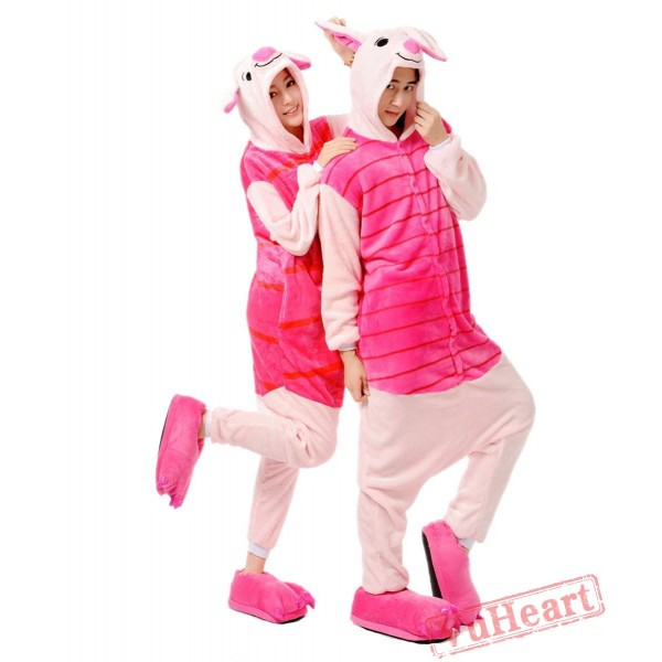 Pink Piglet Pig Kigurumi Onesies Pajamas Costumes for Women & Men