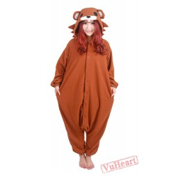 Cartoon Brown Bear Kigurumi Onesies Pajamas Costumes for Women & Men