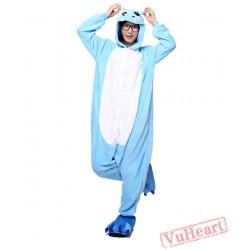 Blue Hippo Kigurumi Onesies Pajamas Costumes for Women & Men