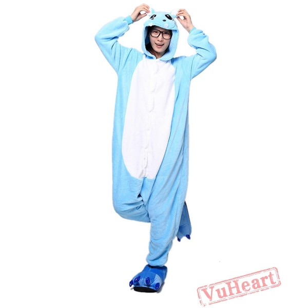 Blue Hippo Kigurumi Onesies Pajamas Costumes for Women & Men