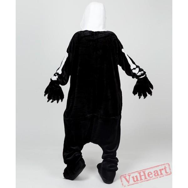 Skull Kigurumi Onesies Pajamas Costumes for Women & Men