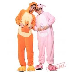 Pink Kangaroo Kigurumi Onesies Pajamas Costumes for Women & Men