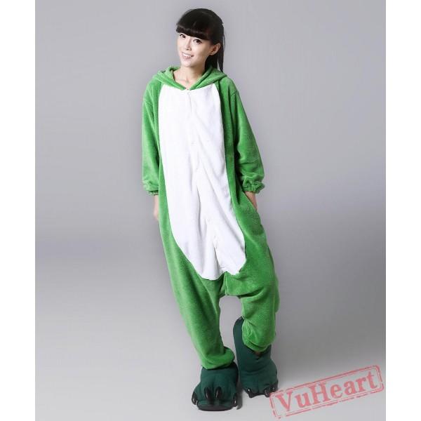 Green Frog Kigurumi Onesies Pajamas Costumes for Women & Men