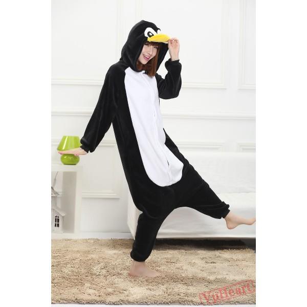 Black Penguin Kigurumi Onesies Pajamas Costumes for Women & Men