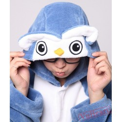 Blue Owl Cute Cartoon Kigurumi Onesies Pajamas Costumes for Women & Men