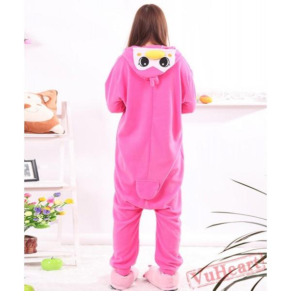 Pink Penguin Kigurumi Onesies Pajamas Costumes for Women & Men