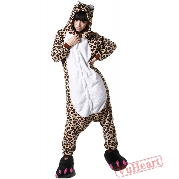Leopard Bear Kigurumi Onesies Pajamas Costumes for Women & Men