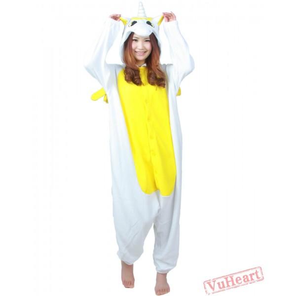 Yellow Unicorn Kigurumi Onesies Pajamas Costumes for Women & Men