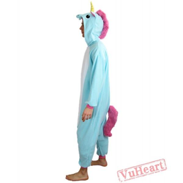 Blue Unicorn Couple Onesies / Pajamas / Costumes