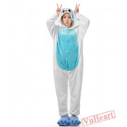 Blue Ears Rabbit Bunny Kigurumi Onesies Pajamas Costumes for Women & Men