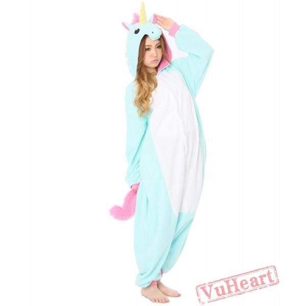 Sky Blue Unicorn Kigurumi Onesies Pajamas Costumes for Women & Men