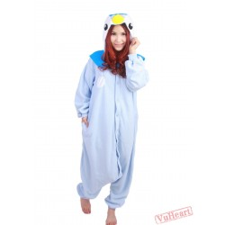 Blue Penguin Kigurumi Onesies Pajamas Costumes for Women & Men