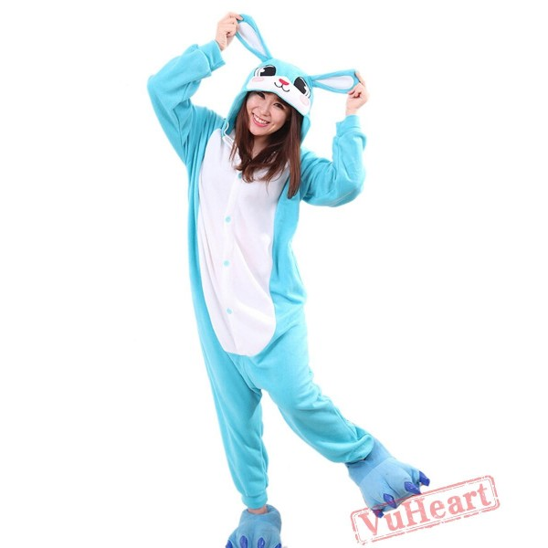 Blue Rabbit Kigurumi Onesies Pajamas Costumes for Women & Men