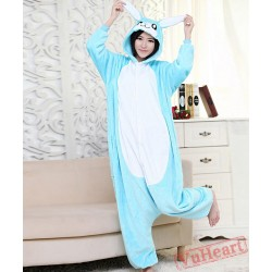 Blue Rabbit Kigurumi Onesies Pajamas Costumes for Women & Men